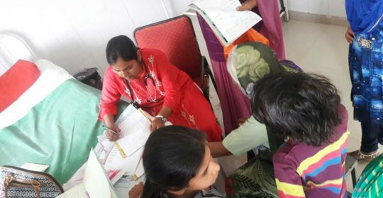 Free consultation camp at Nageshwar,Unhel CHC.