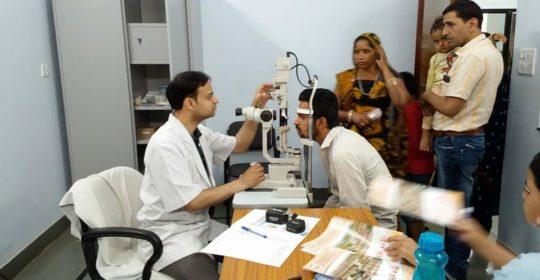 Free eye consultation camp