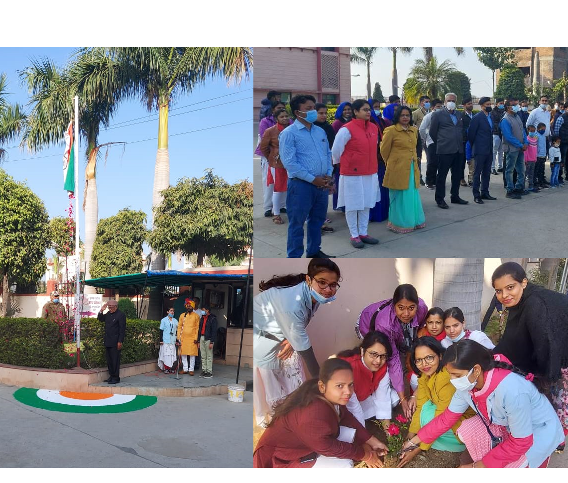 Noon Hospital Staff Celebrated The 72 Republic Day of India