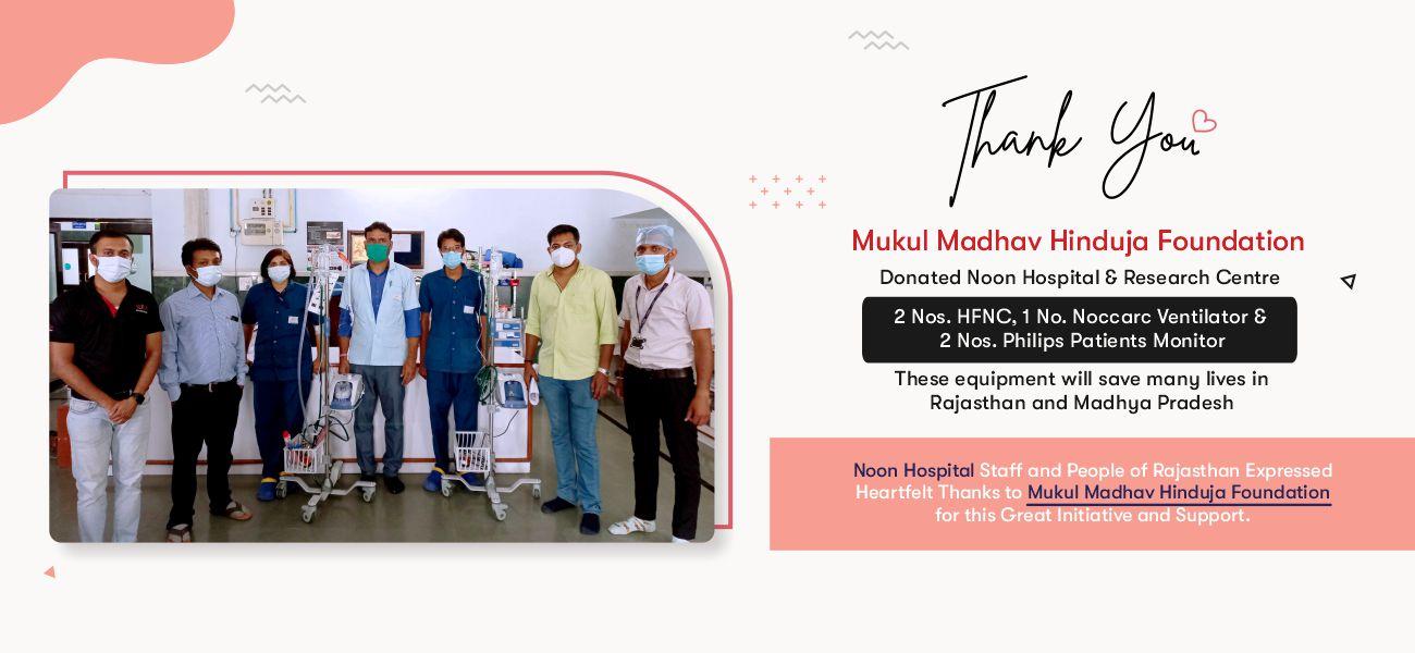 Thanking Mukul Madhav Hinduja Foundation