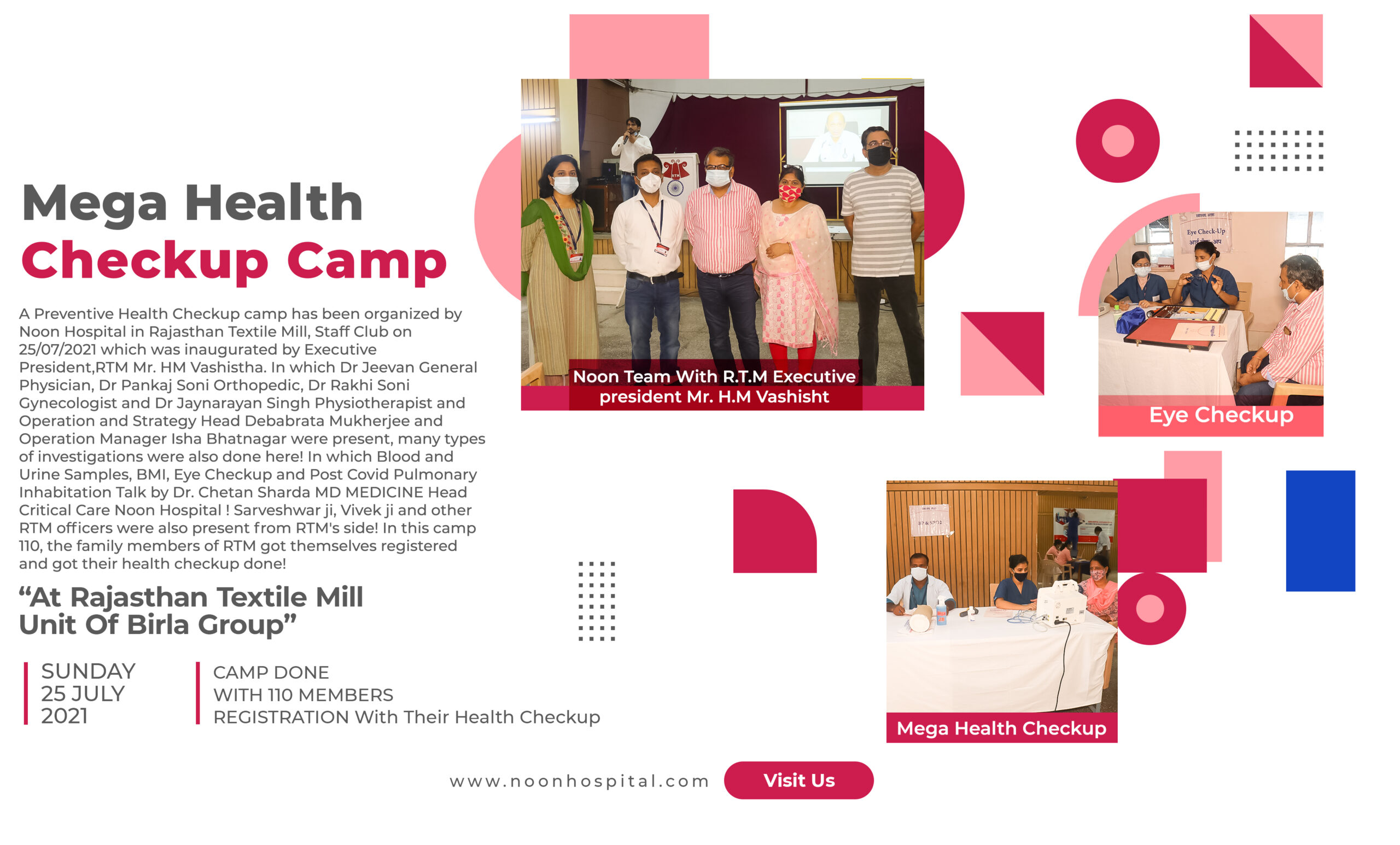 Health Checkup Camp In Rajasthan Textile Mill 2021